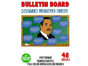MARTIN LUTHER KING JR QUOTES BULLETIN BOARD | MARTIN LUTHER KING ACTIVITIES |MLK