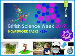 British Science Week 2019 KS2 Homework Tasks
