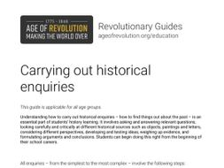 Carrying out historical enquiries