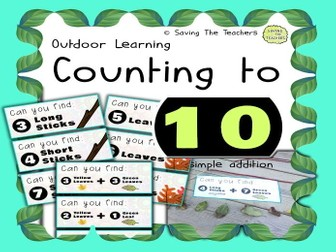 Counting to 10: Outdoor Number Hunt