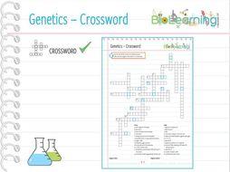 Genetics / Inheritance / DNA - Crossword (KS3/ KS4)
