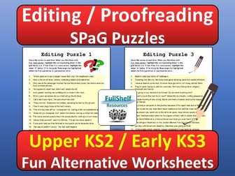 Editing / SPaG Worksheets