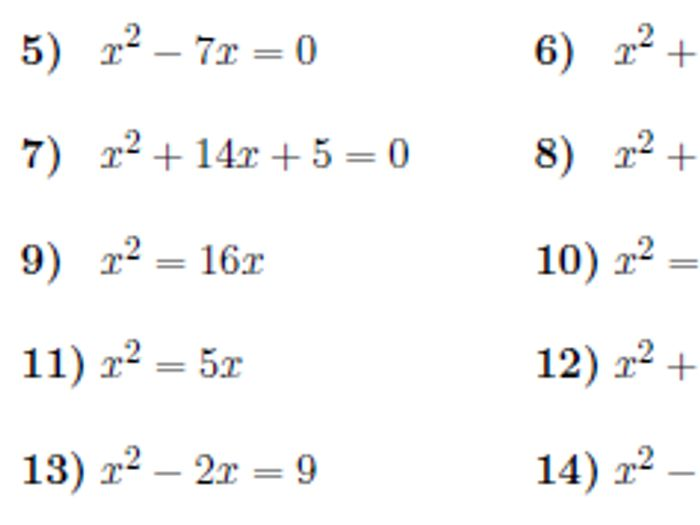 Solving quadratic equations by factorising worksheet (with ...