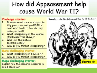 Appeasement - Causes of WWII