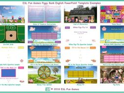 Piggy Bank English PowerPoint Game Template FREE READ ONLY SHOW-An Original by ESL Fun Games