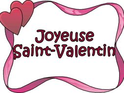 FRENCH - La Saint Valentin - Activities - Worksheets