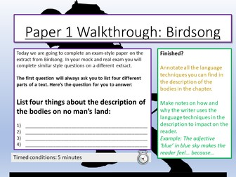 AQA English Language Paper 1 - Section A Walkthrough