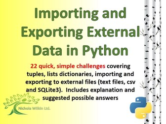 Dealing with external data in Python