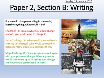 AQA Paper 2: Section B Speech Writing