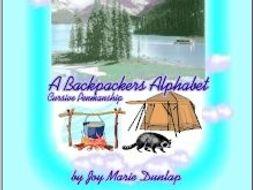 """A Backpacker's Alphabet"" Cursive Penmanship"