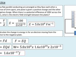 A level Physics (22.2) Electric Field Strength (Electric fields)