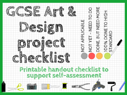 GCSE Art and Design project checklist: printable handout