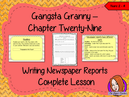 Complete Lesson Newspaper Reports – Gangsta Granny
