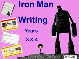 Iron Man whole class modelled Writing activity Year 2 Year 3  Year 4 guided writing SPAG