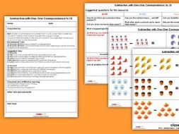 EYFS Subtraction with One-One Correspondence (to 10) Planning, Resources & Observation Pack