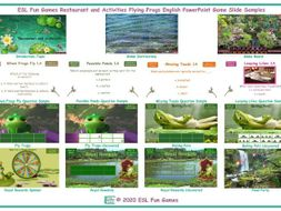 Restaurant and Activities Flying Frogs English PowerPoint Game
