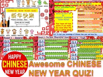 CHINESE NEW YEAR QUIZ 2016 #1