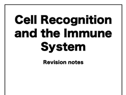 Cell Recognition and the Immune System AQA A-Level Biology