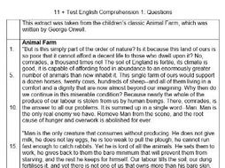 11+ / 11 Plus English Comprehension Practice Test