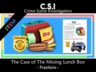 CSI: Math Murder  Mystery: The Missing Lunchbox - Fractions