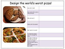 Fun Design Starter Task: Design the world's worst pizza