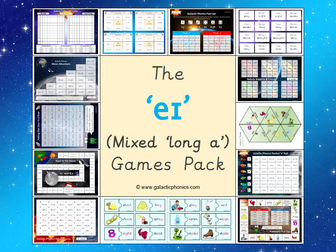 The mixed 'eɪ' (long a) Phonics Games Pack