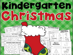 Christmas Math and Literacy Printables for Kindergarten