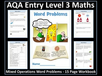 Word Problems - Mixed Operations - AQA Entry Level Maths