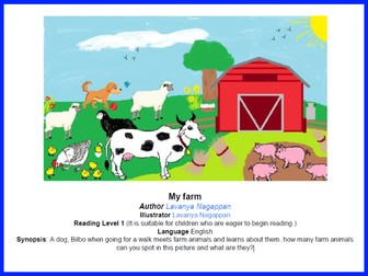 Can you spot it? My farm (Level 1 Reading Level)