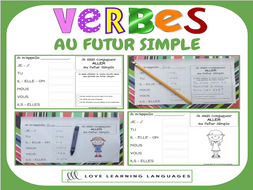 Verbes Au Futur Simple 60 Verbes Francais A Conjuguer Primaire Teaching Resources