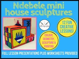 Ndebele modroc houses: colour and geometry 3d painting scheme of work