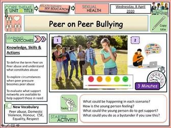 Peer on Peer Abuse Bullying - PSHE + RSE