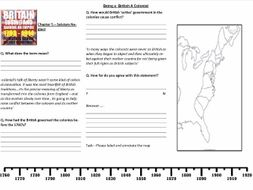 Worksheet to support the lecture: 2 Being a British Colonist by Professor J.Freeman of Yale Universi
