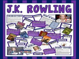 JK ROWLING TEACHING DISPLAY RESOURCES ENGLISH READING KS2 AUTHOR HARRY POTTER