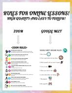 RULES FOR ONLINE CLASSES! (Zoom and Google Meet)