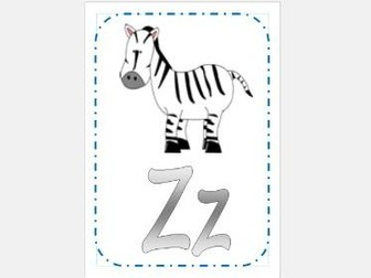 A-Z Display A4 cards