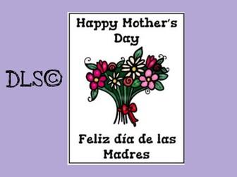 Bilingual Mother's day packet / Paquete bilingüe del día de la Madre.