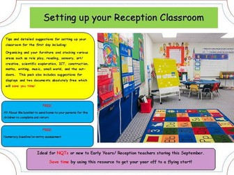 Setting up your Classroom (EYFS).  NQT or New to Reception.