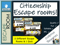 Citizenship & British Values Escape Rooms