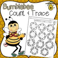 Bumblebee Count Trace Coloring Page Color Count Trace