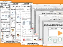 Year 5 Prime Numbers Autumn Block 4 Step 4 Maths Lesson Pack