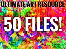 ART. Ultimate Art Department Resource - 50 Resources!