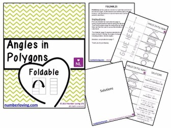Angles in Polygons (Foldable)