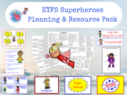 Superheroes  Planning and Resources - EYFS/Reception