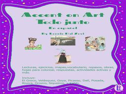 Accent on Art - 10  Mexican and Spanish Artists Bundle  for the Spanish (or Bilingual) Classroom