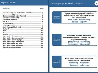 Teaching Prompts - Year 6 Spelling Booklet Primary National Curriculum
