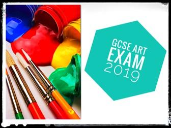 GCSE REVISION. Art. AQA GCSE Art Exam 2019 Support Resources
