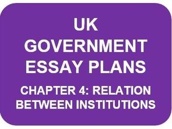 A LEVEL POLITICS ESSAY PLANS: UK GOVERNMENT CHAPTER 4