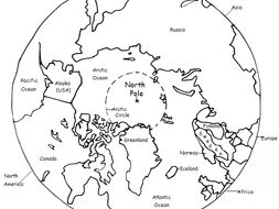 The North Pole - Printable handout with map