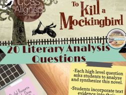 To Kill a Mockingbird - 20 Literary Analysis Questions!